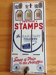 Vintage Us Postage Stamp Vending Machine Inspiration Shipman Manufacturing Co Vintage ThreeSlot US Post Office Stamp