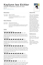 Community Service Resume samples