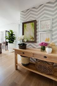 Small Picture How To Wallpaper A Space Using A Chevron Pattern