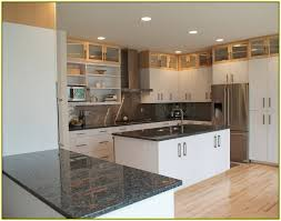 interior kitchens with dark countertops attractive off white kitchen cabinets granite home copper regarding 19