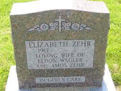 """Elizabeth Lucinda """"Lizzie"""" Zehr Zehr (1917-2009) - Find A Grave ..."""