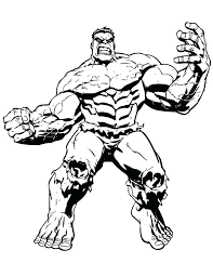 Incredible Hulk Pictures To Color Hulk Color Pages Big Muscle