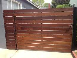 horizontal wood fence gate imposing on other wooden driveway gates installation repair los angeles 28