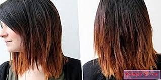 Ombre Krátké Vlasy Barvení Technika Světlých A Tmavých Odstínů