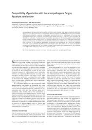 Pdf Compatibility Of Pesticides With The Acaropathogenic