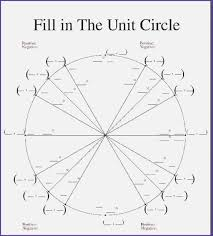 Unit Circle Chart Filled In Best Clever Unit Circle Printable Nordfx