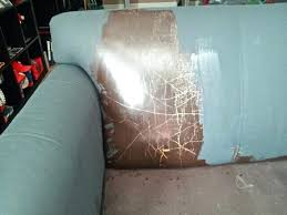 leather sofa paint paint leather and the same section after graphite chalk paint and sealed with