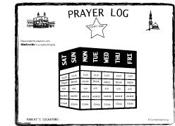Salah Chart Islamic Prayer Log Salah Log For Kids