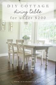 cottage dining table tutorial