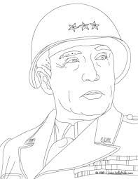 Coloring Pages General George Patton Coloring