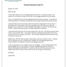 Hardship Letter For Mortgage To Company Loan Modification In Lieu Of