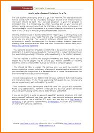 6 Personal Statement For Resume Job Apply Letter