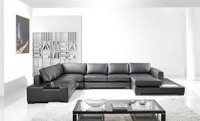 Modern black furniture Brown Sofa Black Contemporary Plan Modern Black Leather Sectional Living Room Furniture Toslf2066