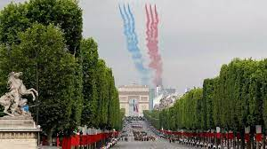 African troops march in Bastille Day parade