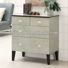 venetian style mirrored glass 3 drawer 4 door sideboard with beautiful gold trim and subtle etched cross design to front cupboard doors