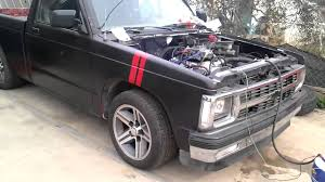 1992 chevy s10 with carbed sbc 350 vortec - YouTube