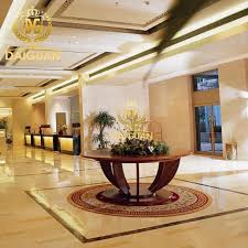 daiguan flower round table flowers table in the hotel lobby hotel lobby hotel lobby desk jd56 in on alibaba com