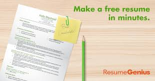 Make Resume Online Free Best Free Resume Builder Resume Builder Resume Genius