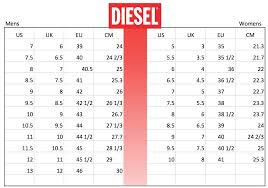 Diesel Womens Shoes Size Chart Shoes Size Conversion Chart Soleracks