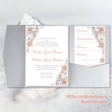 Wedding Invitation Folding Pocket Invitation Template Diy Printable Wedding Wedding Template Shop