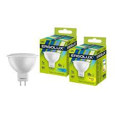 <b>Светодиодная лампа Ergolux</b> MR16 GU5.3 220V 9W(750lm 100°)