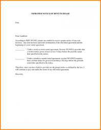 Sample Of Rent Increase Letter Rent Increase Letter Free Template