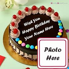 happy birthday cake with my name and