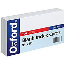 how to print on 3x5 index cards amazon com oxford blank index cards 3x5 inch white 100 pack