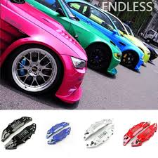 <b>4PCS</b>/<b>Set</b> Blue <b>3D</b> Style Front Rear <b>Universal</b> Disc Car Brake ...