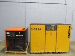 rotary screw air compressor for sale. kaeser cs91 75 hp rotary screw air compressor with kdr 400 refrigerated dryer for sale