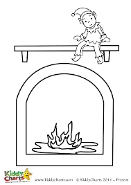 Small Picture Elf on the shelf colouring page