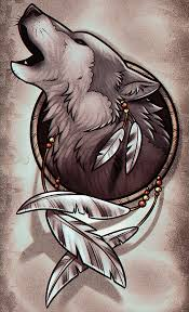 Dream Catcher Wolf Drawing Drawing a Wolf Dreamcatcher Step by Step Concept Art Fantasy 2