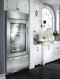 glass door refrigerator sub zero kitchen view glass door mini fridge home depot