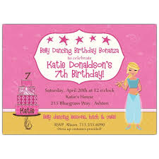 Kids Invitations Kids Belly Dancing Blonde Birthday Invitations Paperstyle