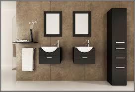 bathroom vanity 24 inch. Modern Double Floating Black 24 Inch Bathroom Vanities Set With Tall Cabinet And Wall Self Vanity O