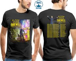 Trendy Shirt Designs 2018 Us 8 99 10 Off Tops Hipster Tees T Shirt Elton John Tour 2018 Tshirt Black Color Hot Design Size S 4xl Hot Offer In T Shirts From Mens Clothing On