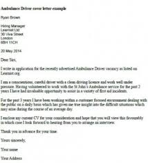 Chauffeur Driver Cover Letter driver cover letter examples  driver