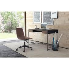 zuo studio espresso and metal desk  the home depot