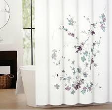 plum shower curtains. Tahari Printemps Purple Plum Gray Teal On White Cotton Blend Shower Curtain Tree Branch Http Curtains S
