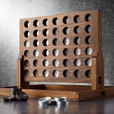 Wooden Connect 4 Game Wood and Aluminum Connect Four Game The Green Head 1