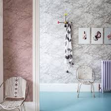 hallway colours 2017. modern hallway with colourful marbleeffect wallpaper colours 2017