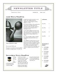 Microsoft Word Newsletter Free Newsletter Template For Word 2007 And Later