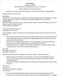 8 Receptionist Resume Samples Sample Templates