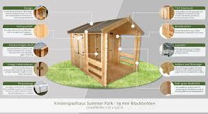 Spielhaus 175 X 130 Meter Aus 19mm Blockbohlen Kinder
