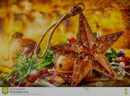 Rote Hintergrundnahaufnahme Weihnachtsstern Und Dekoration