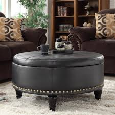 Decorative Nail Heads Gorgeous Black Storage Ottoman Cabinet Storage Black Storage