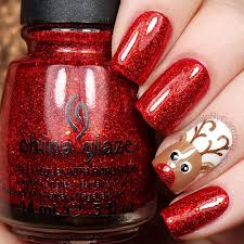 Rudolph Inspired Christmas Nails | Christmas and Winter Ideas ...