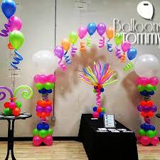 neon balloons a balloon arch balloon centerpieces