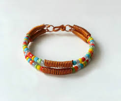 picture of diy wire seed bead bracelet