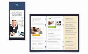 Word Brochure Template Tri Fold Secretarial Services Tri Fold Brochure Template Word